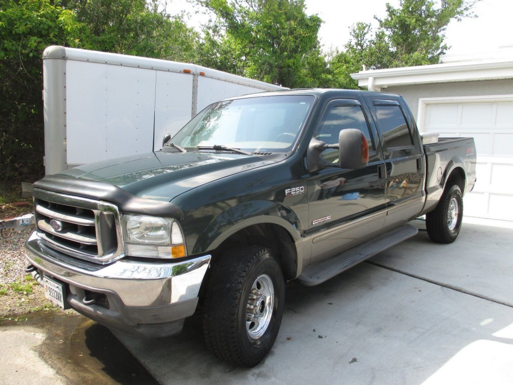 2003 ford f250 green 4 x 4 turbo diesel for sale. Black Bedroom Furniture Sets. Home Design Ideas