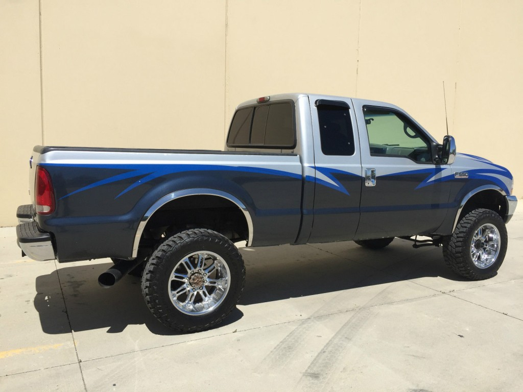 custom 2001 ford f250 supercab 4x4 shortbed 7 3 powerstroke turbo diesel for sale. Black Bedroom Furniture Sets. Home Design Ideas