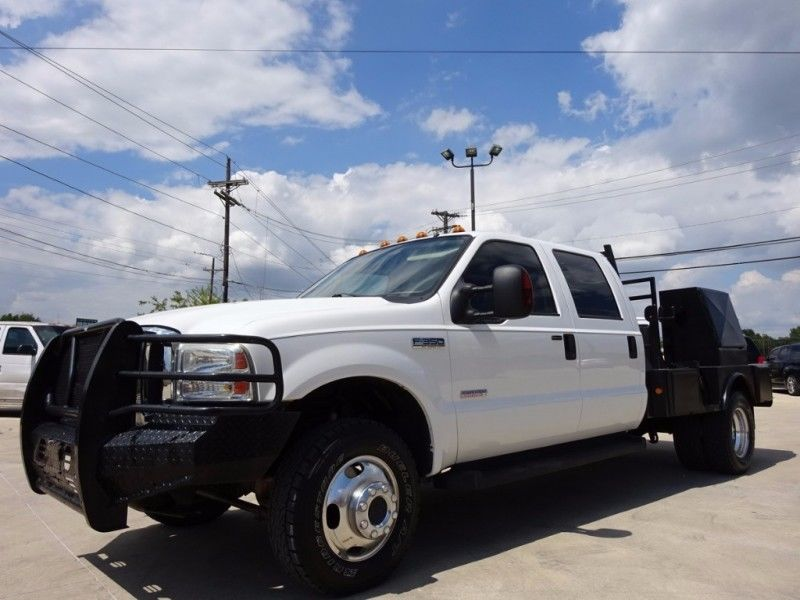 Single Cab Diesel Trucks For Sale >> 2006 Ford F-350 Crew Cab Flat Bed Dually for sale
